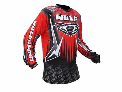 Wulfsport Arena Adult Red Black Motocross Jersey MX Top New
