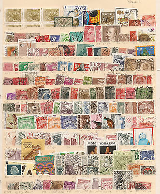 a stock page of mixed used world stamps starting with Italy.