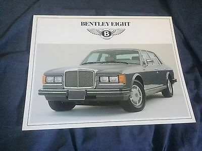 1987 1988 Bentley Mulsanne S And Bentlery Eight Color  Brochure Sheet Prospekt