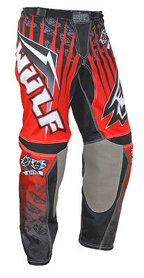 Wulfsport Arena Adult Red Black Motocross Pants MX Jeans New