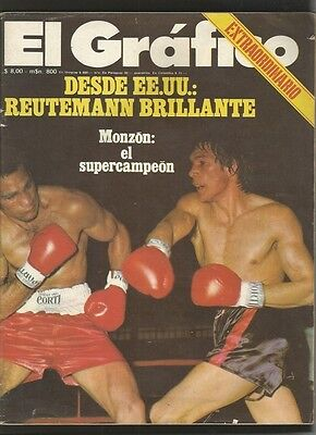 Grafico Magazine + Ticket Boxers Monzon vs Mundine 1974