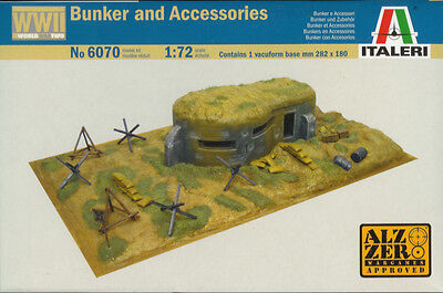 Italeri 1/72 (20mm) WWII Bunker And Accessories