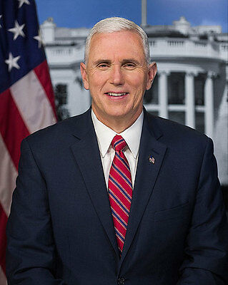 Trump Vice President Mike Pence Official Portrait 11x14 Silver Halide Photo