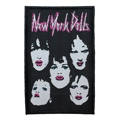 """""""New York Dolls"""" Lipstick & Makeup Glam Punk Rock Band Sew On Applique Patch"""