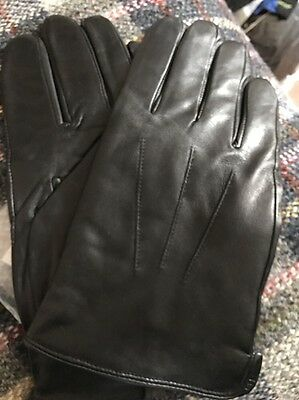 Men's Jasmine Leather Gloves Cashmere Lined Nwt
