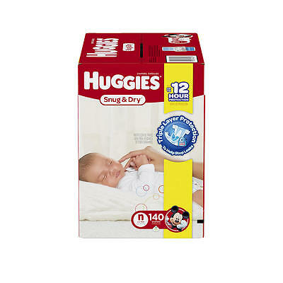 Huggies Snug and Dry Newborn Disposable Diapers - 140 Count