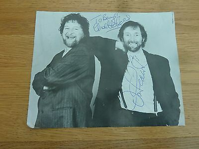 1990s ORIGINAL HAND SIGNED PHOTO PRINT CHAS AND DAVE 10 X 9 INCH