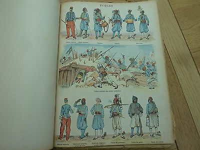 1900c IMAGERIE MILITAIRES ORIGINAL FRENCH BOOK OF COLOUR MILITARY PLATES COMPLET