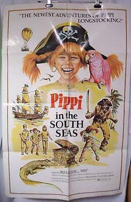 Original Movie Poster Pippi In The South Seas Pirates Longstocking Inger Nilsson