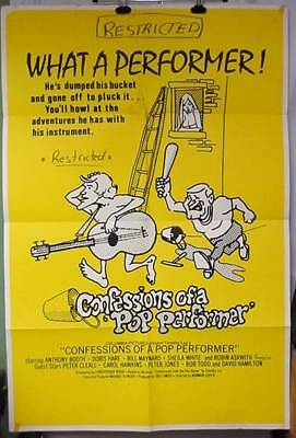 Movie Poster CONFESSIONS OF A POP PERFORMER British Sex Farce Anthony Booth