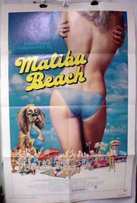 Original Movie Poster Malibu Beach 1978 Kim Lankford James Daughton