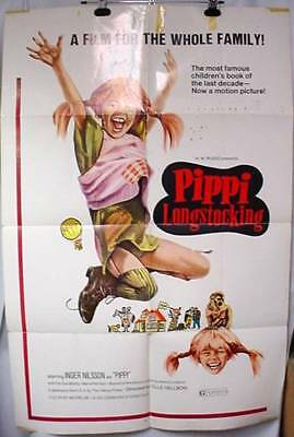 Original Movie Poster Pippi Longstocking 1973 Inger Nilsson Par Sundberg TV Show