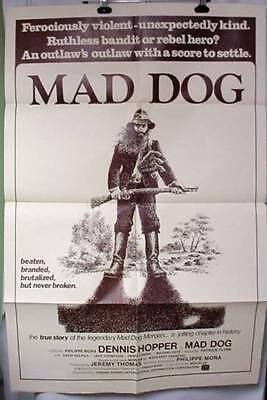 Original Movie Poster MAD DOG MORGAN 1976 Dennis Hopper David Gulpilil