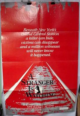 Original Movie Poster A Stranger Is Watching 1982 Rip Torn Kate Mulgrave