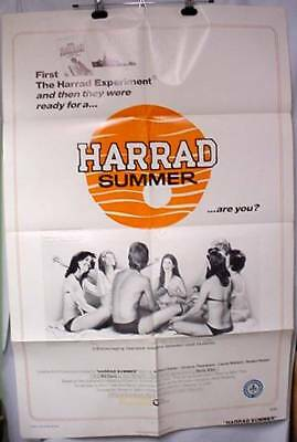 Original Movie Poster Harrad Summer 1974 Laurie Walters Victoria Thompson