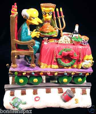 """The Simpsons """"A Feast For One"""" Christmas Express Train, Hamilton Collectible"""