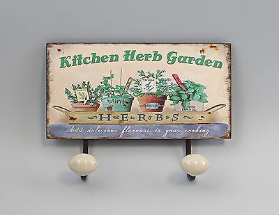 hook bar Metal Herb garden Flower pots Vintage Shabby Chic 9973164