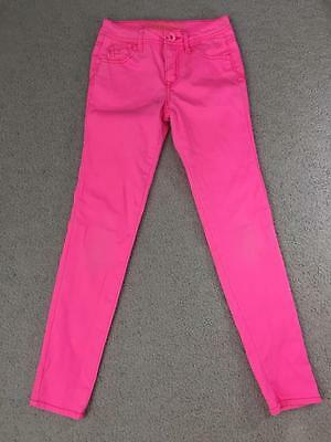 Justice skinny jeans girl size 12 S simply low pink denim pants cotton blend