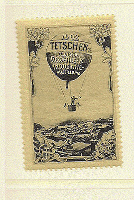 1902 Aviation Poster Stamp Teschen Ballon Austellung MNH