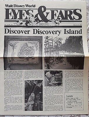 Rare Mar 1983 Disney Wdw Eyes & Ears Cast Newsletter Discovery Island News