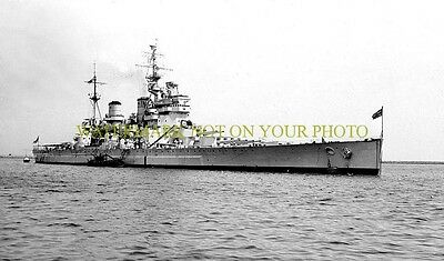 British Navy Battleship HMS King George V 8X12 Photo Military Black n White 8x12
