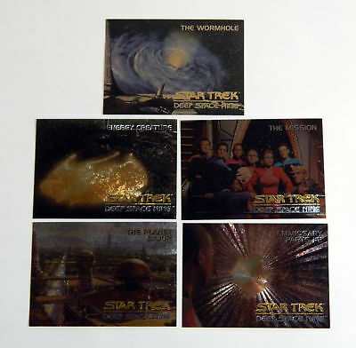 1994 Skybox Star Trek Deep Space Nine DS9 Spectra Chase Set (SP1-SP4 + SPG) Nm