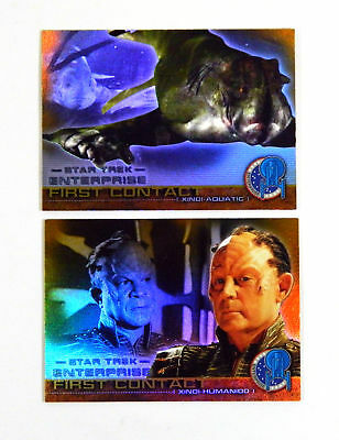 2004 Star Trek Enterprise Season 3 First Contact Chase Cards (F22 & F26) Nm