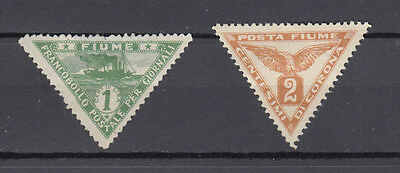 Two very nice old Fiume Triangular Newspaper issues
