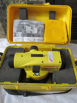 Leica Runner 24 Automatic Optical Level With Case, Cover and Manual