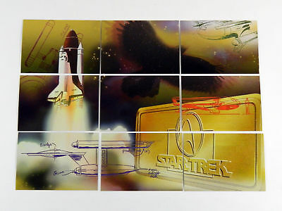 Skybox 30 Years of Star Trek Phase 3 Space Mural Foil Chase Set (S1-S9) Nm