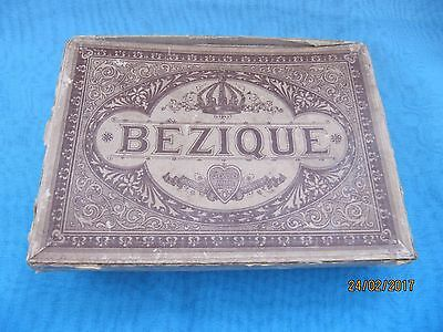 Vintage ~  Bezique Boxed Game with additional full set of cards