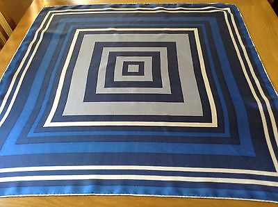 VINTAGE HAND ROLLED SILK SCARF.  VGC.  29 x 29 INCHES.  SMART!