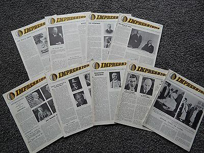 9 Issues of Impression Imp Tobacco / WD&HO Wills Bristol Staff Magazine 1958-60
