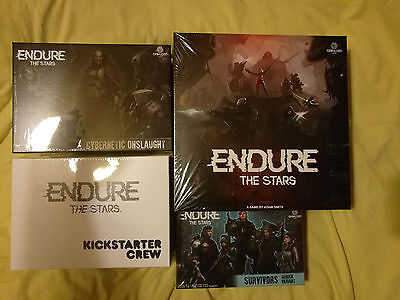 Endure the Stars Kickstarter Edition Board Game NEW SEALED + 2 Expansions