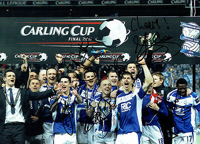 Birmingham City Carling Cup 2011 signed by 8