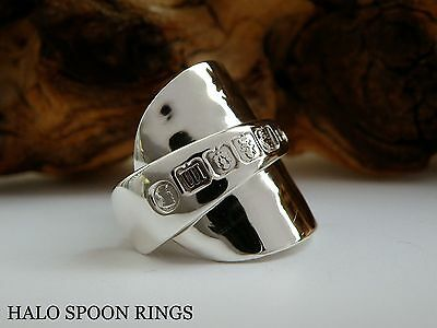 Chunky Ladies Solid Silver Inverted Spoon Ring Glasgow 1935 Only One Available!!