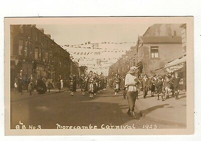 Morcambe Carnival.1923.1923  Old Real Photo Postcard
