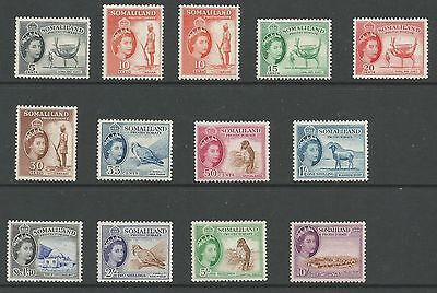 SOMALILAND PROTECTORATE SG137-48 THE 1953-8 QE2 SET OF 13 INC.10c SALMON C.£137