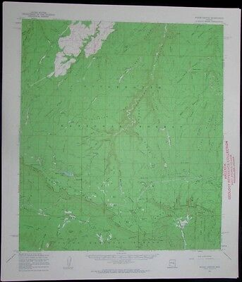 Woods Canyon Arizona Sitgreaves National Forest vintage 1963 old USGS Topo chart