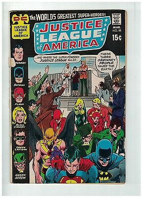 JUSTICE LEAGUE OF AMERICA (1960-1987 DC) 88 VG Loose Cv