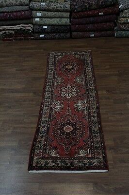 4X11 Hallway Semi Antique Hamedan Persian Runner Oriental Rug Carpet 3'6X10'9