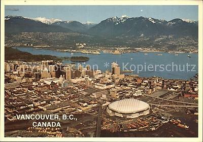 72537540 Vancouver British Columbia Aerial view of Downtown Vancouver Burrard In