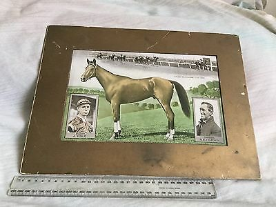 ORIGINAL 1930 PHAR LAP PRINT SHOWING HORSE, MELBOURNE CUP WIN, JOCKEY and OWNER