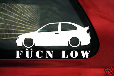 2x LOW YOUR TEXT Renault Megane Coupe 16v Mk1 Outline sticker decal 306