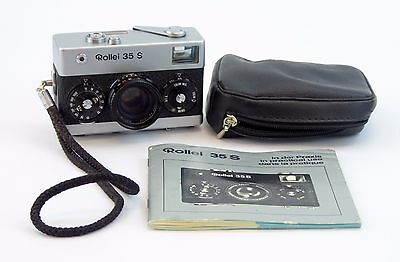 Rollei 35 S Film Camera 35mm w/ HFT Sonnar 40mm f/2.8 Lens UV Filter Case Manual