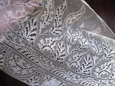 Very Fine Airy Wide Antique Lace Trim~French Or German Doll Clothes~Exquisite !
