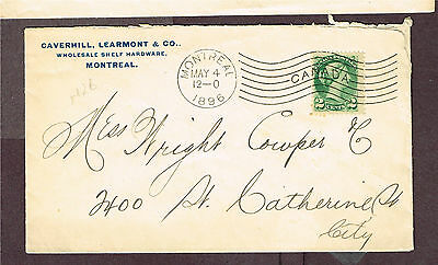 Canada Montreal Wavy Machine Cancel Advertising Small Queen 1896