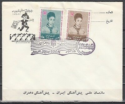 + Persia, Scott cat. 1478-1479. Girl Scout Camp issue on a First day cover.