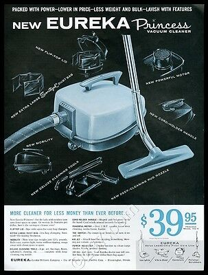 1961 Eureka Princess vacuum cleaner photo vintage print ad