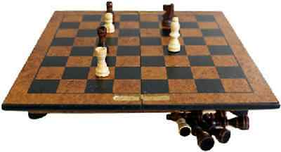 Hand Carved Wooden Luxury Chess Set with Box - Staunton Pieces - 25cm Play Board